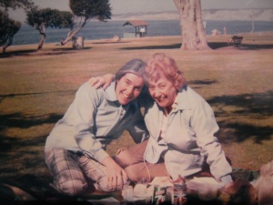 Picnic by the ocean: Mother (79) and me