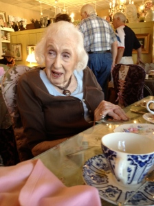 99-year-old at tea room