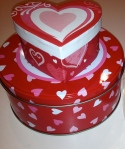 Valentine heart, cookie box