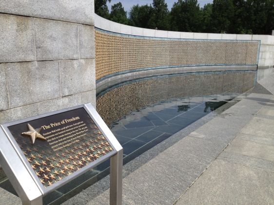 WW II Memorial  Washington, DC  May 19,2015